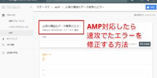 AMP for WordprssでAMP対応したら「必須の構造化データ要素のエラー」!原因はアイキャッチ画像でした