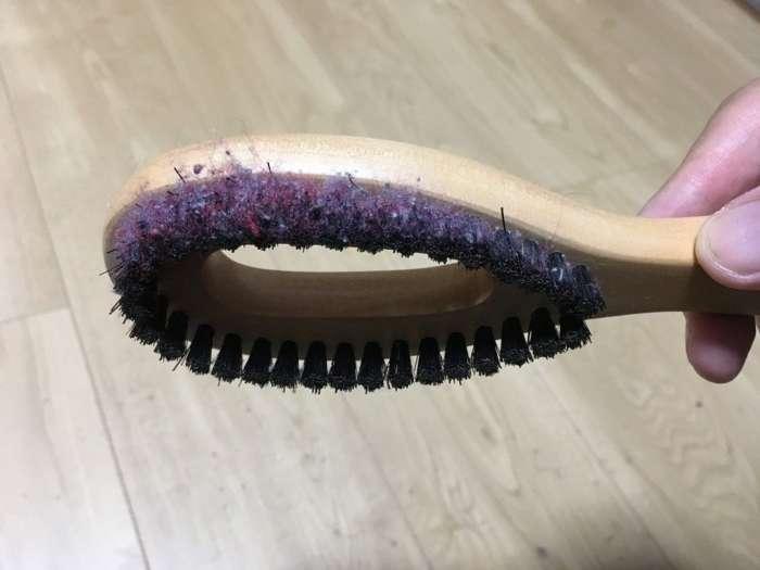 クリーニング屋さんの毛玉とりブラシ