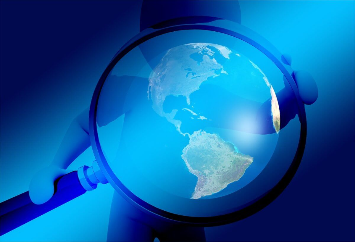 世界を検索するイメージ