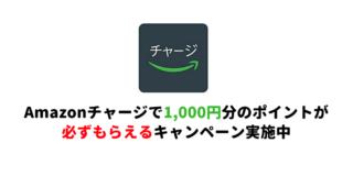 Amazonチャージの初回特典で実質1,000円が必ず貰えるキャンペーン実施中~乗り遅れる前にぜひ!